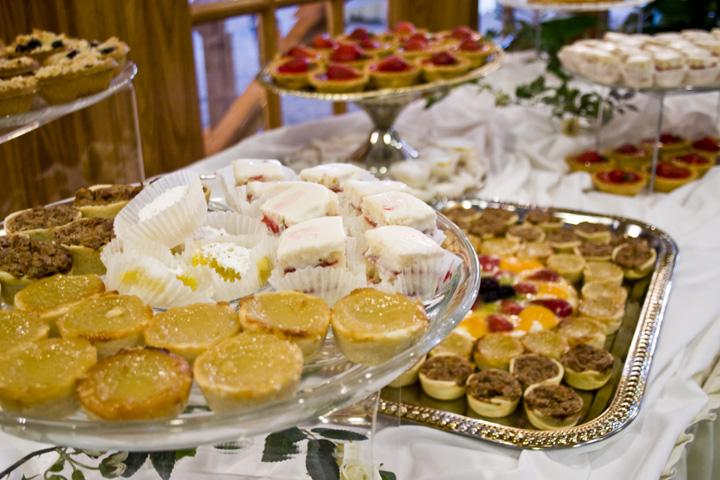 desserts on on a Blue Gate Catering buffet