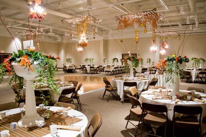 A wedding setup at the Blue Gate Performing Arts Center
