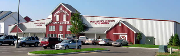 The front of the Shipshewana Event Center