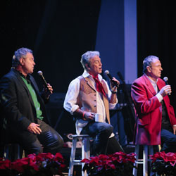 Photo of Larry Gatlin and Gatlin Brothers with Booth Brothers for the Blue Gate Theatre Event in Shipshewana, Indiana