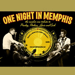 Photo of One Night in Memphis: The #1 Tribute to Presley, Perkins, Lewis & Cash for the Blue Gate Theatre Event in Shipshewana, Indiana