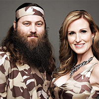 Photo of Willie, Korie & Si Robertson for the Blue Gate Theatre Event in Shipshewana, Indiana