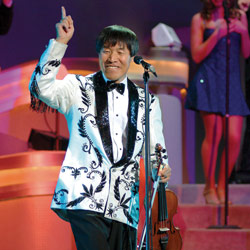 Photo of Shoji Tabuchi for the Blue Gate Theatre Event in Shipshewana, Indiana
