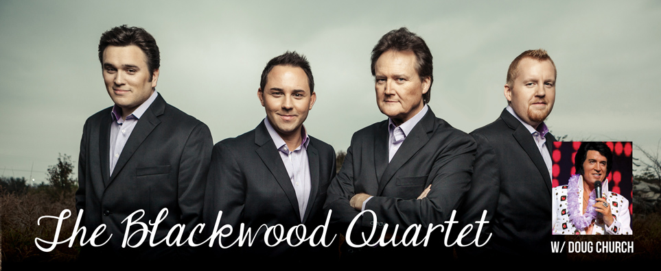 Photo of Blackwood Quartet with Doug Church for the Shipshewana Event