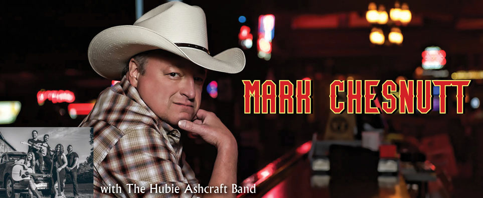Photo of Mark Chesnutt with The Hubie Ashcraft Band for the Shipshewana Event