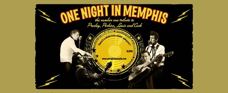 Photo of One Night in Memphis: The #1 Tribute to Presley, Perkins, Lewis & Cash for the Shipshewana Event