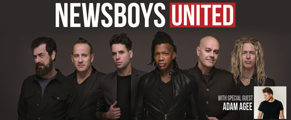 Photo of Newsboys United w-Adam Agee for the Shipshewana Event