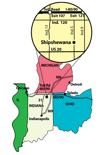 Directions To The Blue Gate Shipshewana In Indiana